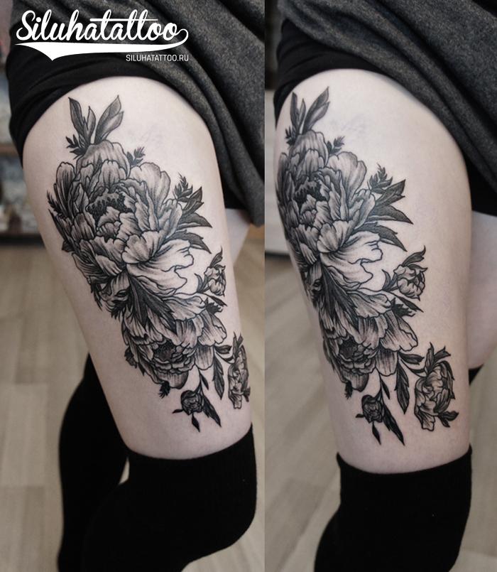 Цветы бедро графика с лого