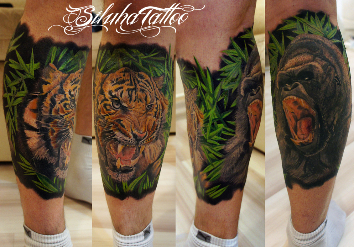 Тигр Горилла с Лого!