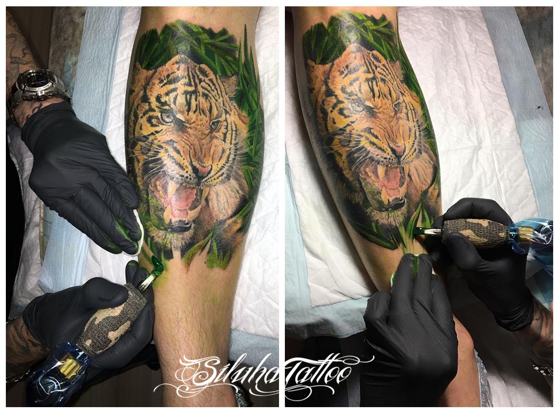 Тигр листва с Лого